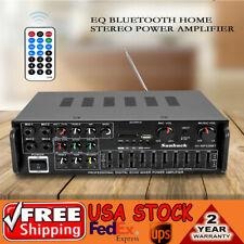 2Ch Eq Bluetooth Stereo Power Amplifier Usb Sdw/ Remote Control 110V