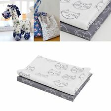 2pcs 100% Cotton Fabric Cute Cat Sewing Textile Baby Clothes Pillow Bag Handmade