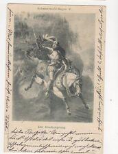 Der Grafensprung Schwarzwald Sagen Germany 1898 Postcard 257b