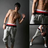 Mens Casual Gym Harem Pants Skinny Sport Jogger Dance Sweatpants Slacks Trousers