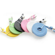 Micro USB Cable Data Sync Charger Cord Fabric For Android Phone 1M