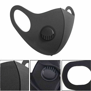 Face Mask Protective Covering Washable Reusable Black Filter Adult Unisex UK