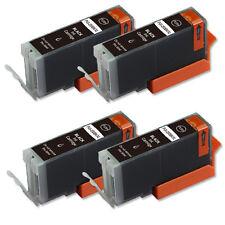 4 BLACK Printer Ink + smart chip for Canon PGI-250 MG5422 MG5522 MX722 MX922