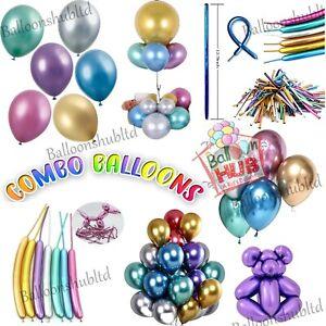 Twisting Metallic Latex Balloon Chrome Long Magic Modelling Balloons