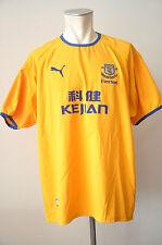 2003-04 Everton Trikot Gr. XXL Puma Jersey Kejian gelb away Jersey 125 Jahre