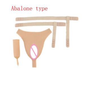 T-back Insert Panty Realistic Silicone Fake Vagina Crossdress Cosplay Underwear