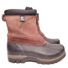 ComforTemp Women's Winter Leather & Rubber WaterProof Zip Up Boots Size 9