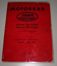 Betriebsanleitung Jawa 350 Typ 354/04 und Jawa 250 Typ 353/04 Ausgabe 1961