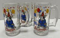 2 Vintage 1987 Budweiser Anheuser Busch Bud Light Spuds Mackenzie Beer Mug 10 oz