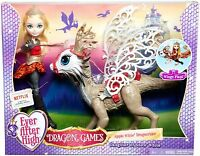Ever After High Dragon Games Apple White Doll and Braebyrn Dragon - NEW & SEALED