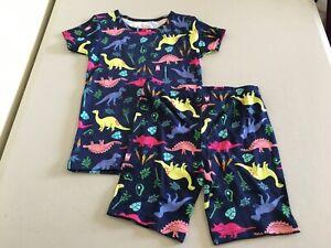 New Carter's Girls Dinosaur allover Pajama 2pc Set Snug fit Shortie