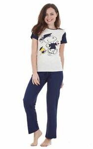 Womens Ladies Lounge Wear Pyjamas Set PJ Pants Cotton Character Nightwear Size
