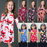 Toddler Baby Girl Xmas Christmas Clothes Kids Princess Party Swing Dress Outfits