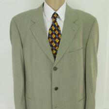 44 R Hugo Boss Beige Gray Stretch Wool 3 Btn Mens Jacket Sport Coat Blazer Mint