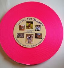 Carter Pet Supply 1 Inch Hot Pink Heavy Nylon Webbing, 50 Yards USA MADE