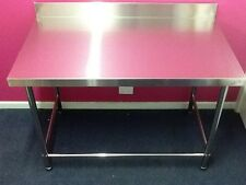 New #201 Stainless Steel Kitchen Work Bench 1500mm with Splashback 1