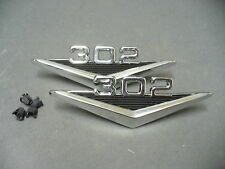 Ford 302 fender emblems 65 66 Mustang 64 65 Falcon 64 Fairlane