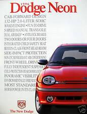 1996 Dodge Neon coupe/sedan new vehicle brochure