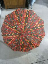 """Vintage Pk Polan Katz Umbrella Multi Colored 35.5"""" Diameter"""