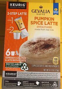 10 Boxes Keurig Gevalia K-cup Pumpkin 🎃 Spice Espresso Latte Froth Packets 7/21