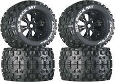 NEW Duratrax Six Pack MT Tires / Wheels (4) E-Maxx Revo 3.3 Savage Flux