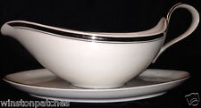 CHINA FASHIONS BAVARIA GERMANY SIMPLICITY GRAVY BOAT WITH ATTACHED UNDER PLATE