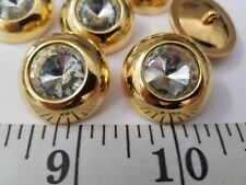 New listing Vintage Buttons Set Of 6 Gold Diamond Design Tuz2755