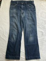 Vintage Levis 70s / 80s Movin-on 33x 30 Jeans Denim Well Worn