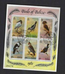 Belize sc#500 (1980) Souvenir Sheet Favor Cancel  NH