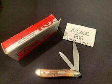 CASE XX U.S.A. 5220 TWO BLADE PEANUT STAG HANDLES POCKET KNIFE