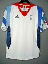 ADIDAS London 2012 Great Britain Paralympic T-Shirt White Size UK32/34 BNWT