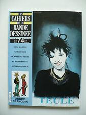 Magazine (très bel état) - Les cahiers de la bande dessinée 74 (Teule)