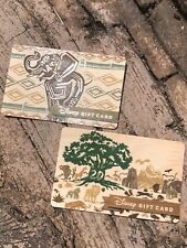 DISNEY PARKS ANIMAL KINGDOM 20TH ANNIVERSARY LIMITED WOOD GIFT CARD - SET OF 2