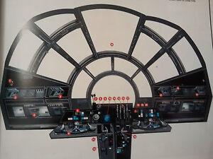 Star Wars Model Fibre Optic Large Millennium Falcon FRONT COCKPIT CONTROLS SET