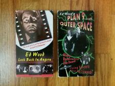 (Lot2) Ed Wood VHS Videos 1994 Look Back in Angora & Plan 9 RARE OOP! CAMPY