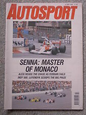 Autosport (31 May 1990) Ayrton Senna wins Monaco GP, Arie Luyendyk wins Indy 500