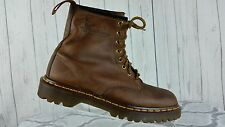 Dr. Martens Brown leather, 6 in tall boots,Mens 7 (UK 6) Made in England
