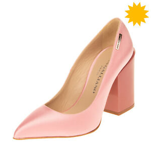 RRP €490 JOHN GALLIANO Satin Court Shoes EU 39 UK 6 US 9 Lame Effect Block Heel