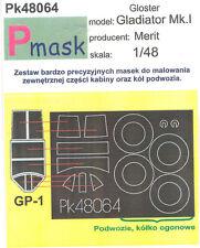 GLOSTER GLADIATOR MK I PAINTING MASK TO MERIT KIT #48064 1/48 PMASK