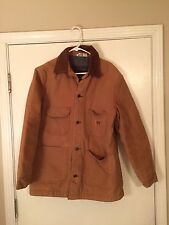 Big Ben mens tan Canvas chore coat  jacket Insulated Blanket flannel Lined 40