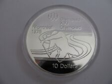 1975 Proof $10 1976 Montreal Olympics #17-Paddling COIN ONLY Canada .925 silver