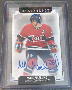 2019-20 Chronology Franchise History Autographs #FHMONA Mats Naslund Canadiens