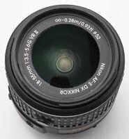 Nikon DX AF-S Nikkor VR 18-55mm 18-55 mm 3.5-5.6 G II Objektiv schwarz