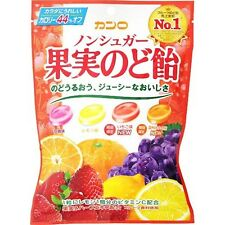 Japanese Food KANRO Non-Sugar Fruits Candy for Throat Care 90g Calories 44% off