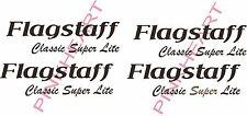 4 sets Flagstaff classic super lite RV sticker decal graphics trailer camper USA