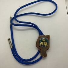 spes mea in deo shriners emblem G Vintage Masonic agate cord bolo tie 32 degree