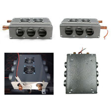 12V 6 Ports Double Sides Iron Compact Auto Heater Heat w/ Speed Switch Universal