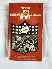 1974 Official National Football League Guide Paperback Book NFL Larry Csonka