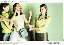 PUBLICITE ADVERTISING 045  1999  LOUIS VUITTON  coll sac (2p) MONOGRAM VERNI