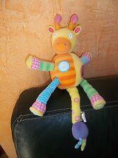 Doudou Peluche Aleix Jr Girafe d'Activités Jaune Orange